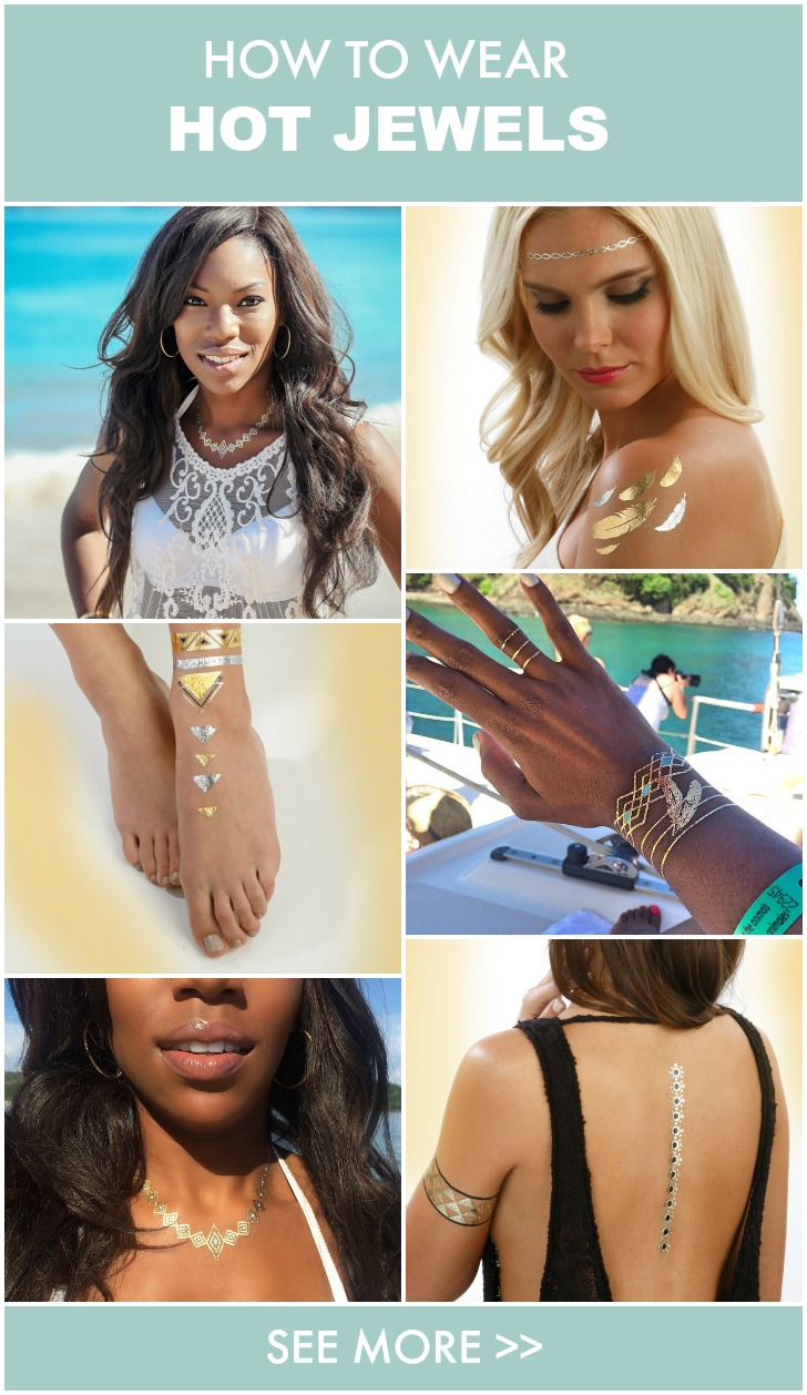 Hot Jewels Metallic Temporary Tattoos: How To Wear the Trend